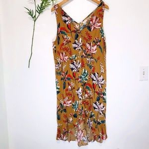 A NEW DAY floral tropical sleeveless v-neck dress